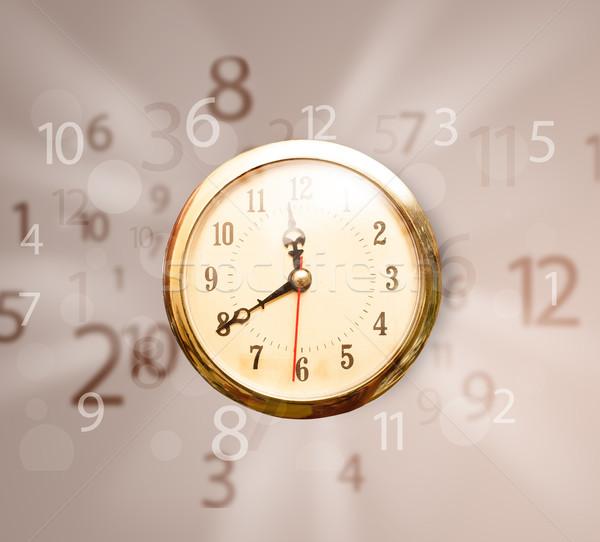 Vintage clock numeri lato fuori faccia Foto d'archivio © ra2studio