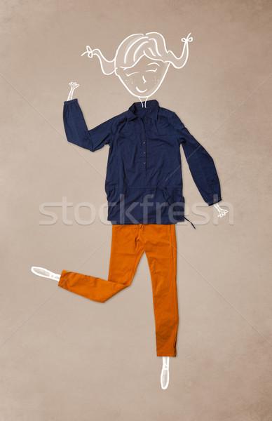 Elbise eylem kadın çizim renkli farklı Stok fotoğraf © ra2studio