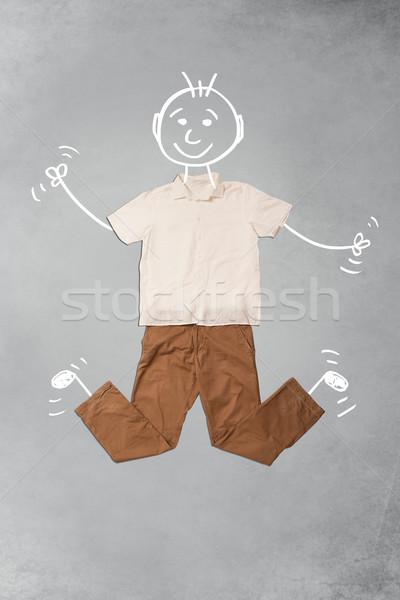 Bonitinho engraçado casual roupa Foto stock © ra2studio