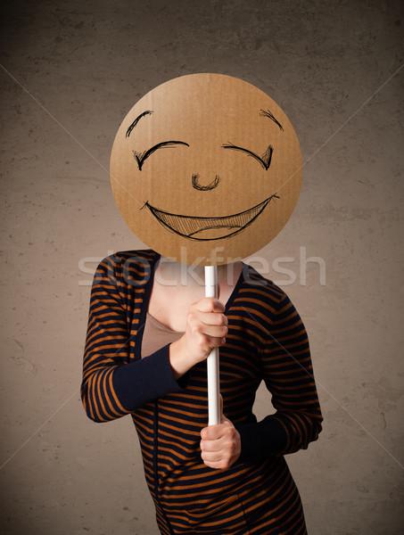 Mulher jovem rosto sorridente conselho jovem senhora Foto stock © ra2studio