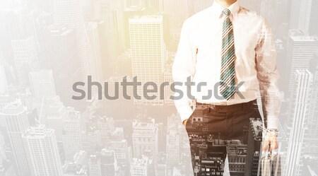 Warm kleur stad zakenman textuur Stockfoto © ra2studio
