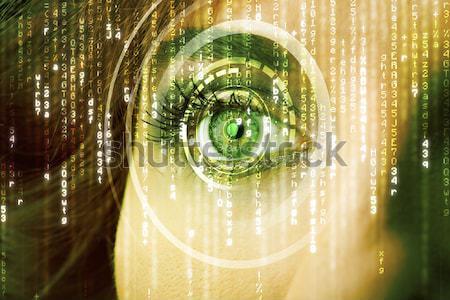 Modernes femme matrice oeil résumé technologie Photo stock © ra2studio