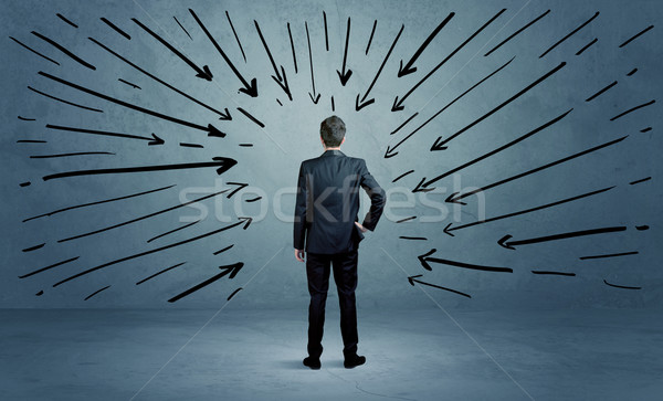 Standing business male made a mistake Stock photo © ra2studio