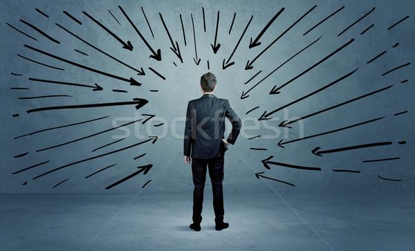 Piedi business maschio errore confusi imprenditore Foto d'archivio © ra2studio