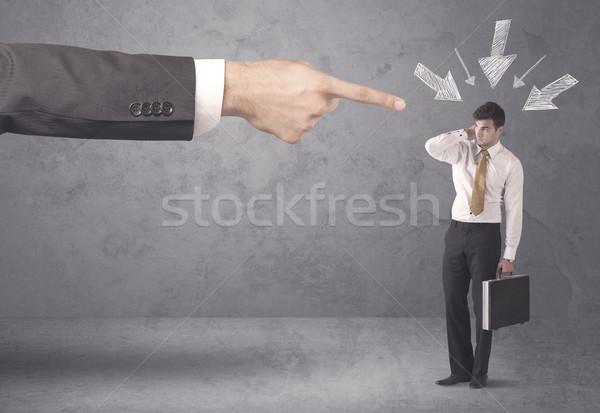 Amateur empresario presión oficina jefe jóvenes Foto stock © ra2studio