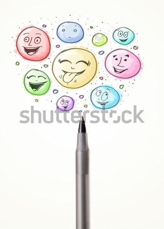 лицах из карандаш пузырьки Сток-фото © ra2studio