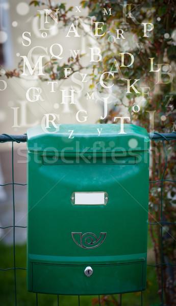 Buzón cartas fuera calle papel libro Foto stock © ra2studio