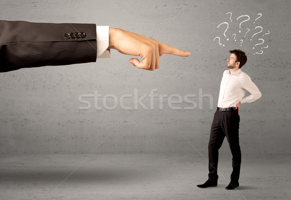 Zavart alkalmazott rendelés főnök fiatal amatőr Stock fotó © ra2studio
