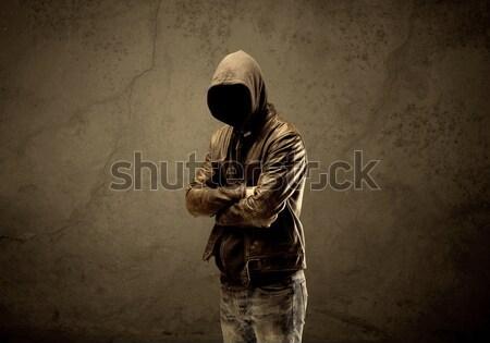 Undercover hooded stranger in the dark Stock photo © ra2studio