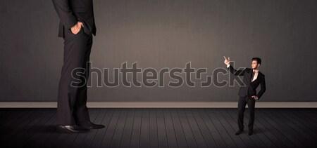 巨人 上司 脚 男 背景 ストックフォト © ra2studio