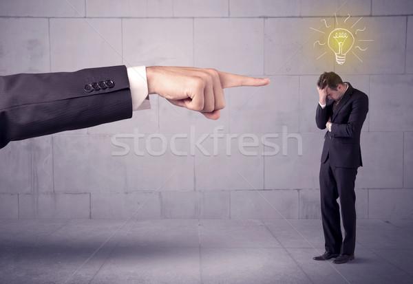 Jefe ventas persona idea enorme mano Foto stock © ra2studio
