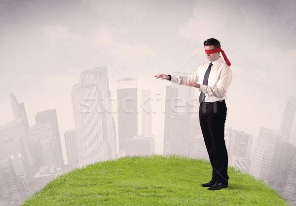 Blindfolded businessman c Stock photo © ra2studio