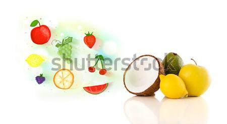Colorato frutti illustrato bianco alimentare Foto d'archivio © ra2studio