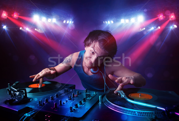 Zdjęcia stock: Nastolatek · rekordy · tłum · etapie · przystojny · strony
