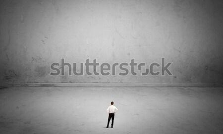 Kişi büyük küçücük zarif Stok fotoğraf © ra2studio