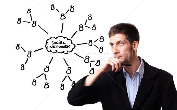 человека схема молодым человеком бизнеса Сток-фото © ra2studio