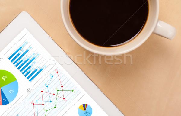 Graphiques écran tasse café bureau Photo stock © ra2studio