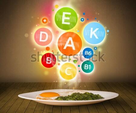 Comida prato delicioso refeição saudável vitamina Foto stock © ra2studio