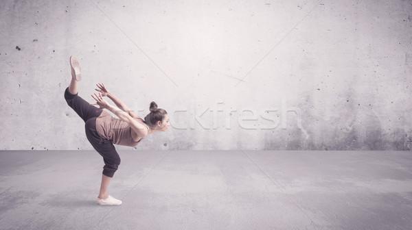 かなり 都市 ダンサー 空っぽ 美しい 小さな ストックフォト © ra2studio