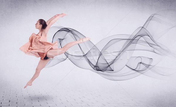 Nowoczesne baletnica streszczenie obracać moda Zdjęcia stock © ra2studio