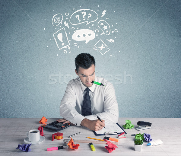Business person in doubt and confused Stock photo © ra2studio