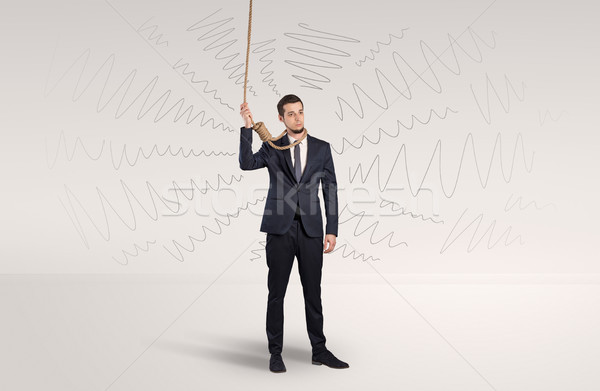 Hopeless businessman trying to suicide Stock photo © ra2studio