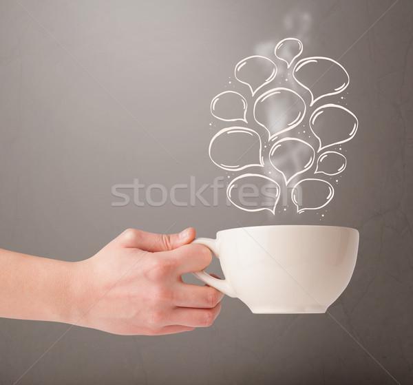 Koffiemok voedsel abstract Stockfoto © ra2studio