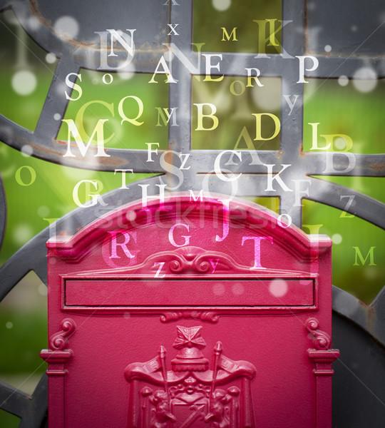 Boîte aux lettres lettres sur rue papier livre Photo stock © ra2studio