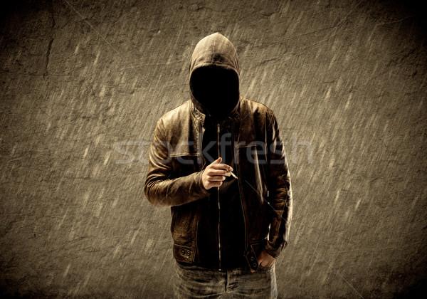 Onbekend stedelijke hooligan vreemd verdacht hacker Stockfoto © ra2studio
