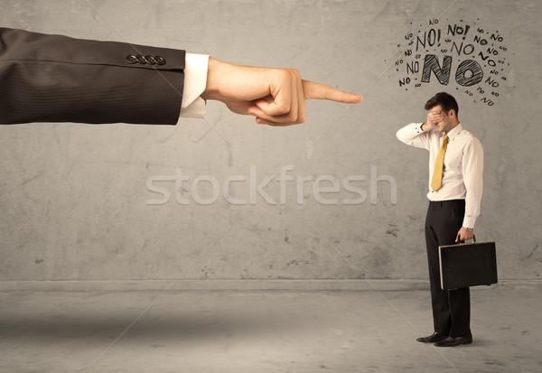 Baas hand beginner verkoper jonge werknemer Stockfoto © ra2studio