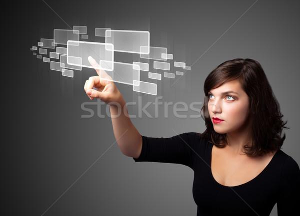 女性実業家 高い ハイテク タイプ 現代 ストックフォト © ra2studio