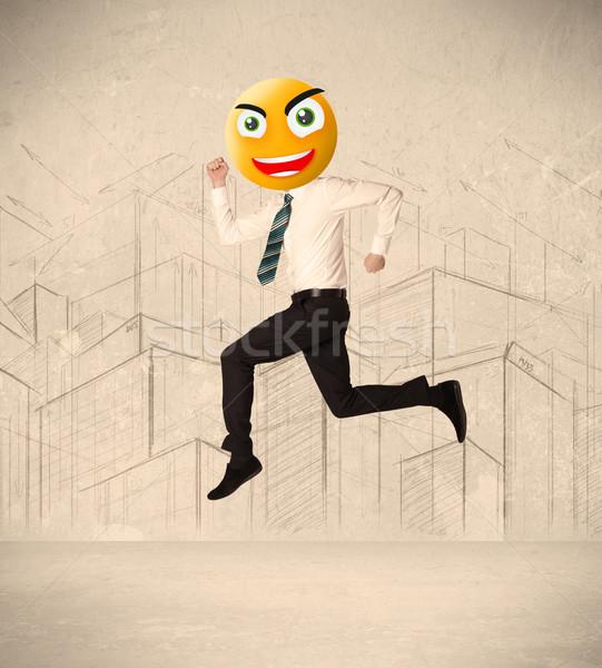 businessman with smiley face Stock photo © ra2studio
