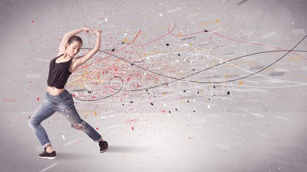 Kentsel dans hatları sıçramak genç çağdaş Stok fotoğraf © ra2studio