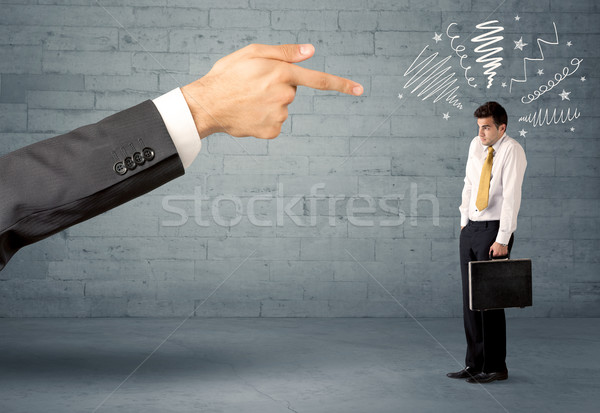 Stock photo: Unprofessional salesman being fired