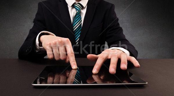 Man typing  in formal clothing  Stock photo © ra2studio