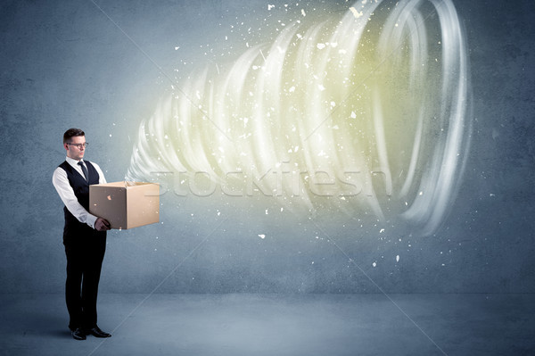 Whirlwind in box concept Stock photo © ra2studio
