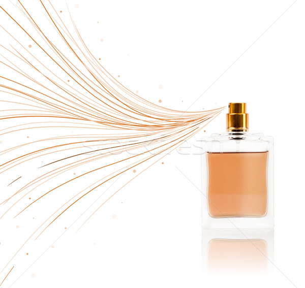 Perfume bottle spraying colorful lines Stock photo © ra2studio