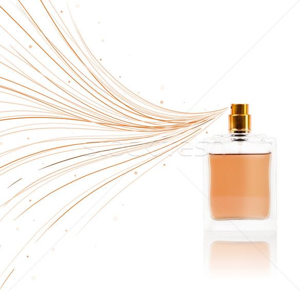 Parfüm şişe renkli hatları renkli hediye Stok fotoğraf © ra2studio