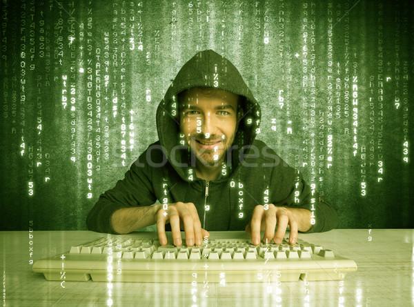 çevrimiçi ilerleme yetenekli hacker veritabanı Stok fotoğraf © ra2studio