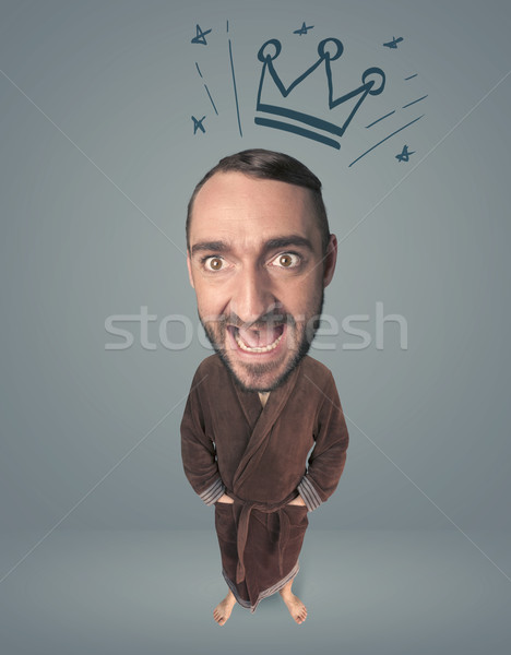 Big head person with crown Stock photo © ra2studio