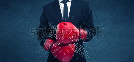 Power of business boxing Stock photo © ra2studio