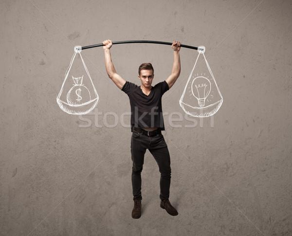мышечный человека сбалансированный сильный спортзал осуществлять Сток-фото © ra2studio