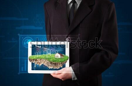 Jeunes affaires parfait écologie terres Photo stock © ra2studio