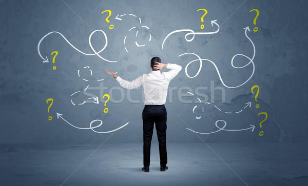 ビジネスマン 疑問符 セールスマン することができます しない ストックフォト © ra2studio