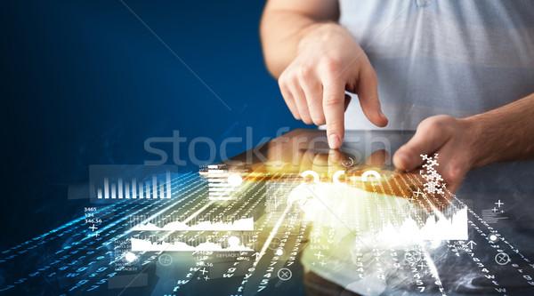 El touchpad tablet iş pazar Stok fotoğraf © ra2studio