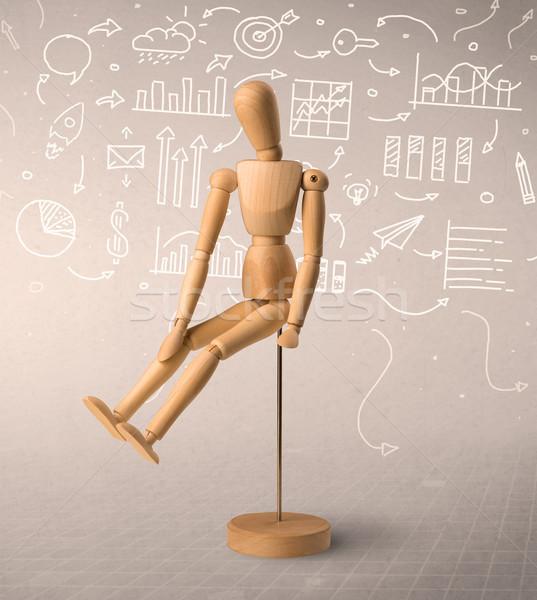 Wooden mannequin concept Stock photo © ra2studio