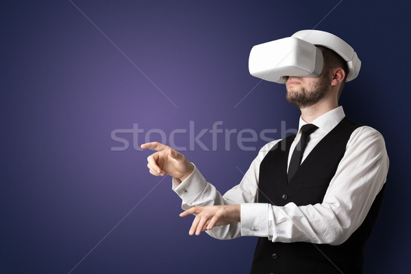 üres szoba férfi szemüveg üzletember fehér nem Stock fotó © ra2studio