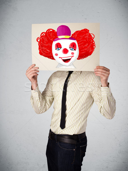 Affaires carton clown jeunes heureux Photo stock © ra2studio