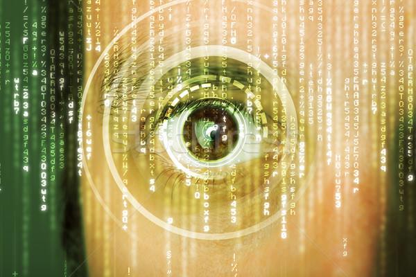 Moderne soldaat target matrix oog man Stockfoto © ra2studio