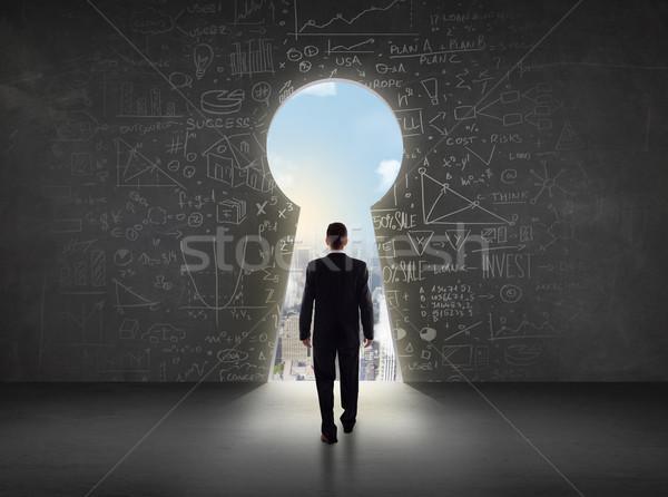 ビジネスマン 見える 前方後円墳 明るい 景観 ビジネス ストックフォト © ra2studio